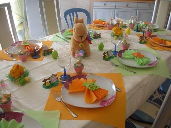 Decoração de mesa para páscoa 014