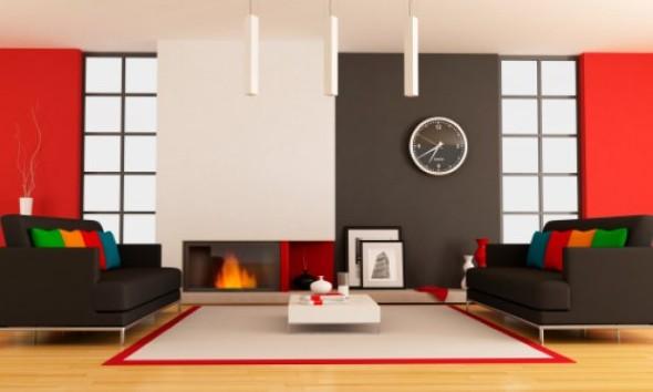 4 dicas para decorar a sala com tons laranja e vermelhos e - Como pintar mi casa moderna ...
