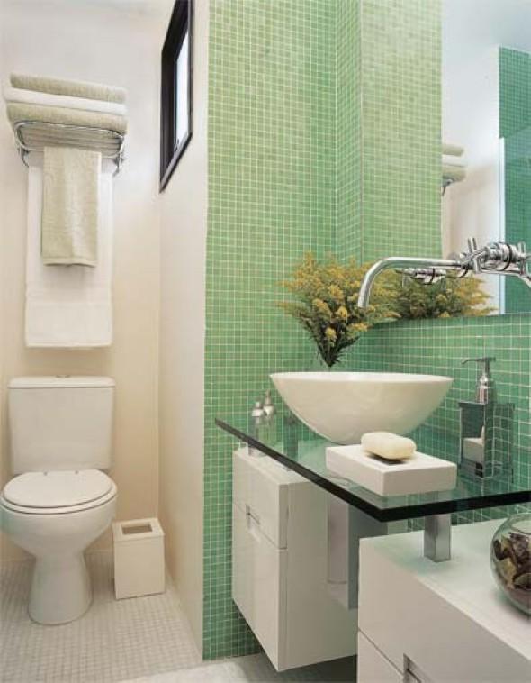 Decorar lavabo pequeno 16 dicas simples e práticas -> Banheiro Simples E Moderna