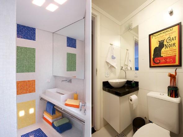 decorar banheiro pequeno gastando pouco:Decorar lavabo pequeno: 16 dicas simples e práticas