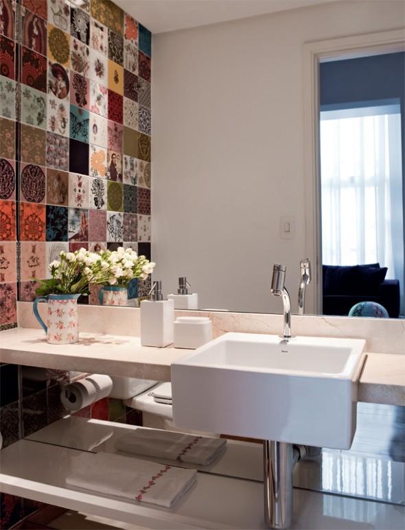 Decorar lavabo pequeno 16 dicas simples e práticas -> Banheiros Lavabos Simples