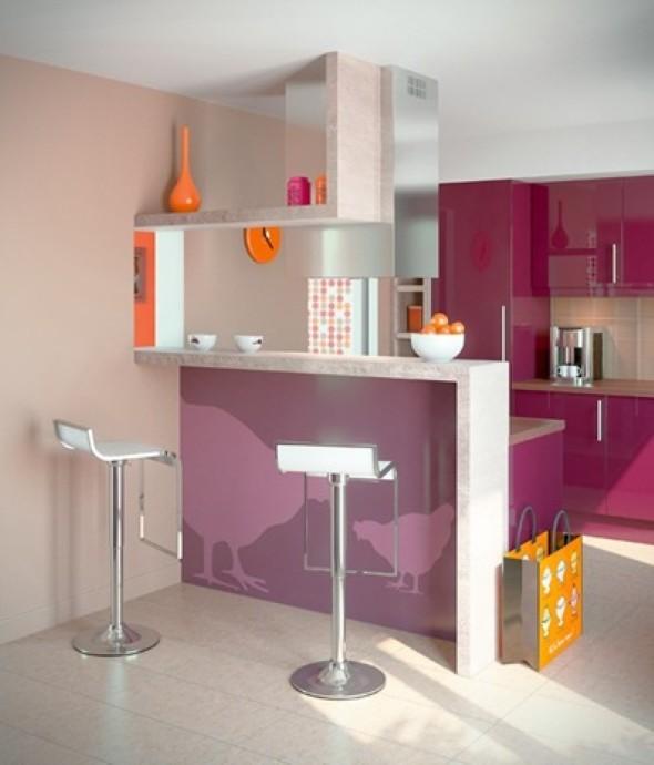 Como decorar uma cozinha pequena 14 modelos pr ticos e funcionais - Colores cocinas pequenas ...