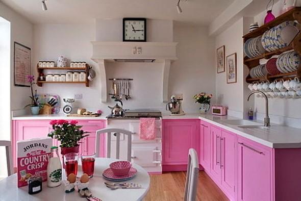 Como decorar uma cozinha pequena 14 modelos pr ticos e - Cocinas pintadas fotos ...
