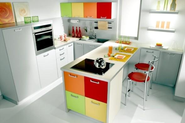 Como decorar uma cozinha pequena 14 modelos pr ticos e funcionais - Cuisine rouge quelle couleur pour les murs ...