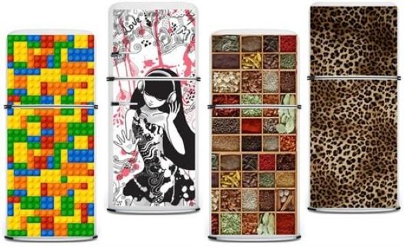 Artesanato Indigena Manaus ~ Decoraç u00e3o geladeira com adesivo de vinil 14 estampas de