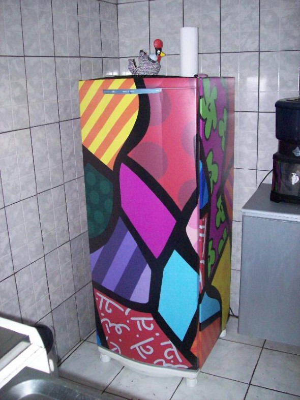 Artesanato Tecido Cozinha ~ Decoraç u00e3o geladeira com adesivo de vinil 14 estampas de adesivo vinilico