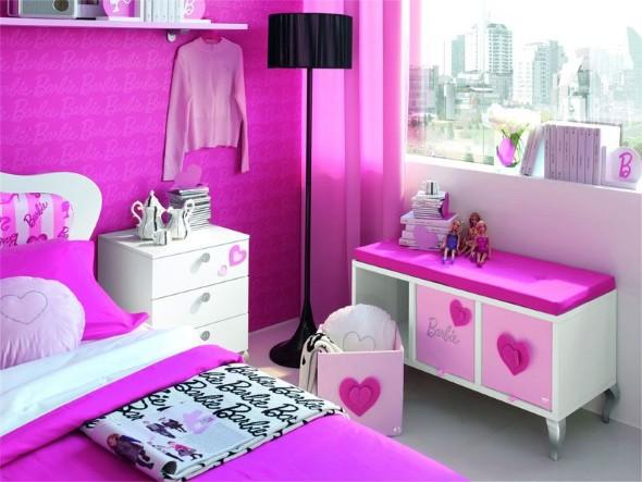 16 quartos decorados para meninas at 7 anos - Camera da letto di barbie ...