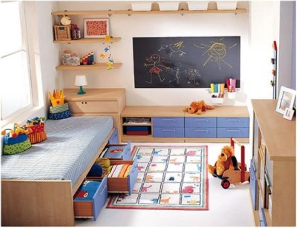 15 dicas para decorar quarto de menino at 7 anos for Decoracion estudios muy pequenos