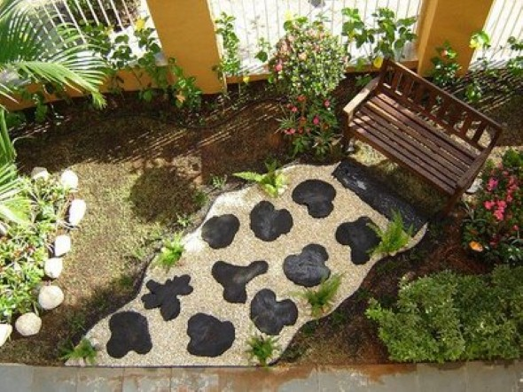 fotos jardins pequenos residenciais:Mais alguns modelos de jardim caseiro em espaço pequeno