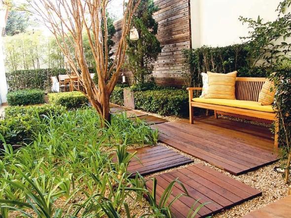 Mais alguns modelos de jardim caseiro em espaço pequeno