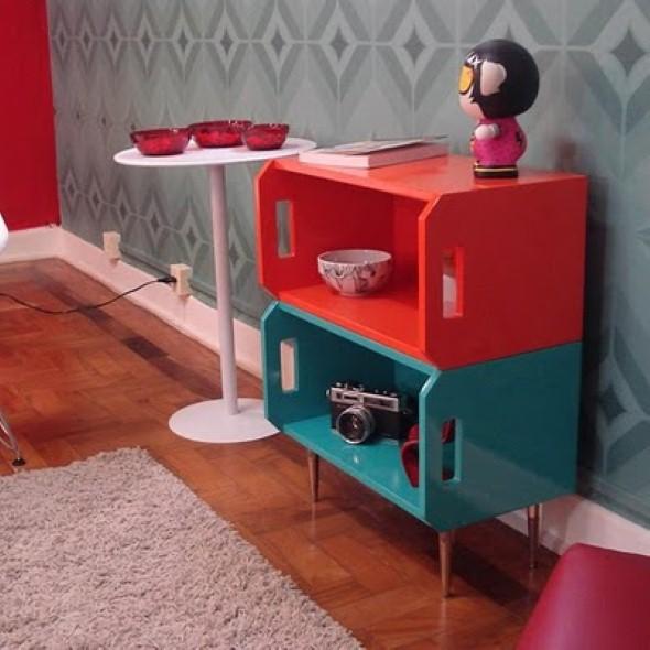 13 modelos de prateleiras com caixote de feira -> Armario De Banheiro Artesanal