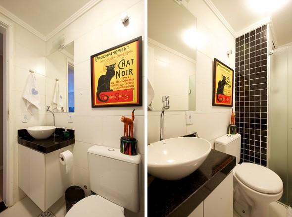 Quadros para decorar banheiro 13 modelos e idéias dos melhores quadros -> Decoracao De Banheiro Com Quadro