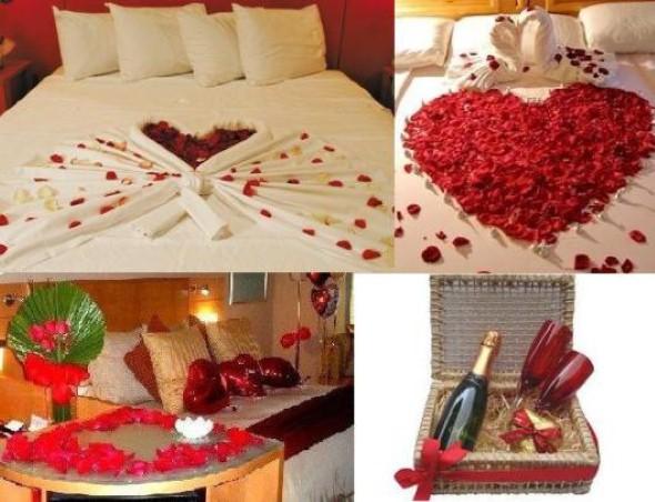 Decoração para o Dia dos Namorados ~ Quarto Romantico Para Namorado