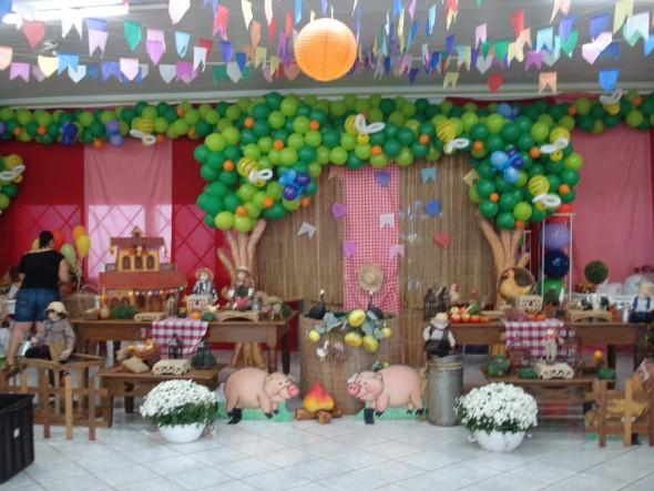 Festa de aniversário com tema junino 004