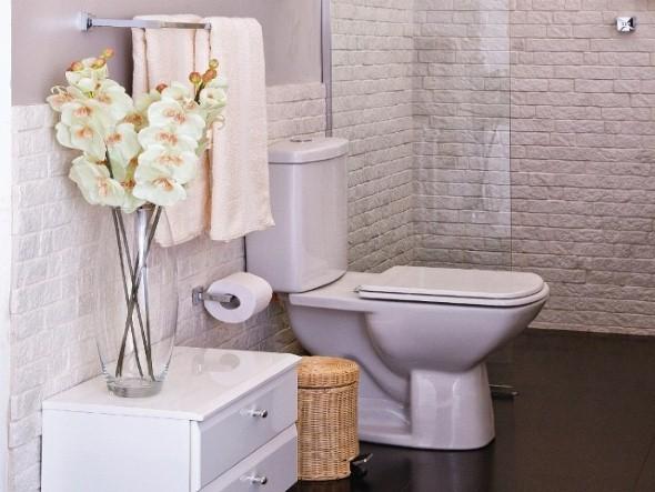 17 ideias para decorar seu banheiro e lavabo com flores ou plantas -> Banheiro Decorado Flor