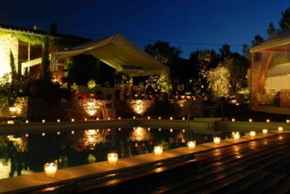 17 dicas de decora o para festa de casamento de noite - Iluminacion decorativa exterior ...