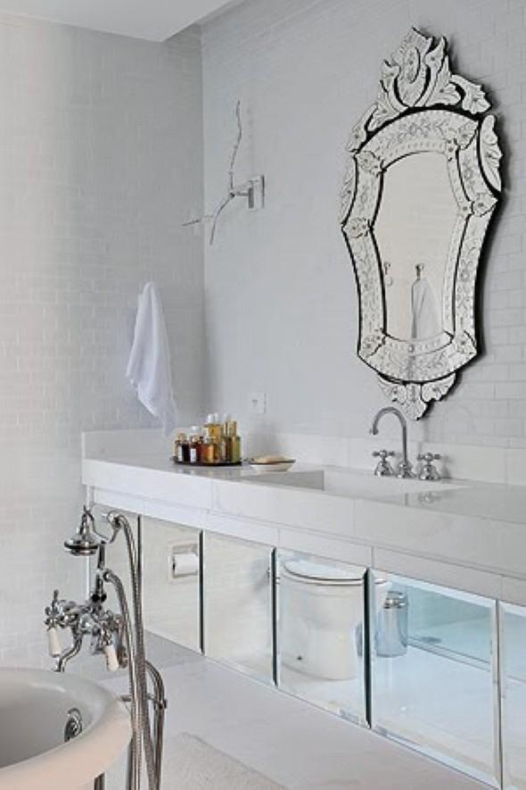 17 modelos de espelhos para decorar o banheiro -> Armario De Banheiro Com Espelho Tok Stok