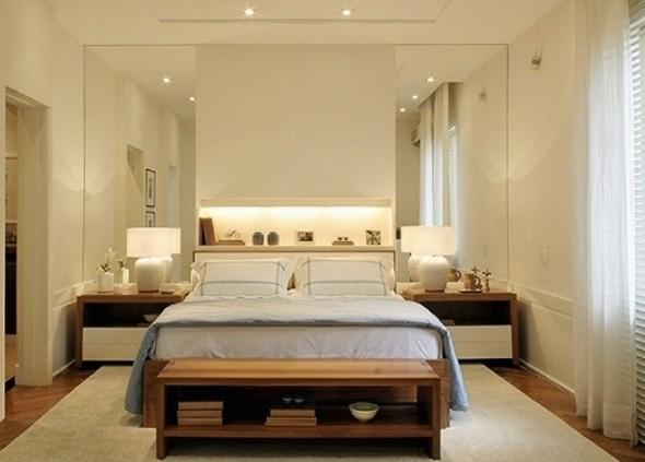 21 dicas de decoração com espelho no quarto casal ~ Textura Para Quarto De Casal Pequeno