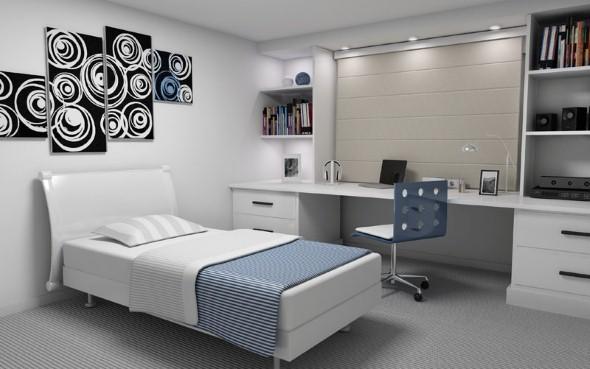 21 fotos de decoração para quarto de solteiro masculino ~ Quarto Planejado Homem Solteiro