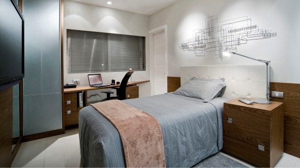 21 fotos de decoração para quarto de solteiro masculino ~ Cor Verde Quarto Significado