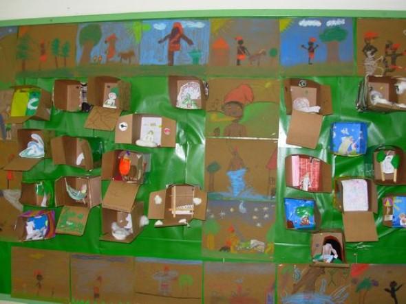 decoracao sala de leitura na escola:Decoração sala de aula para Dia do Folclore: 17 idéias diferentes