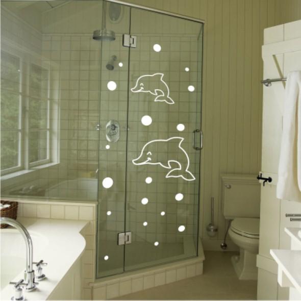 20 modelos de adesivos que podem ser usados na decoração do banheiro -> Adesivo Para Decoracao De Banheiro