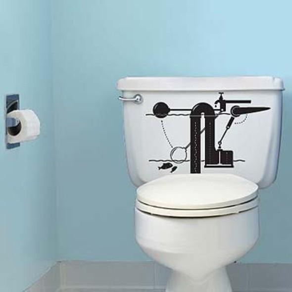 Adesivos na decoração de banheiro 008
