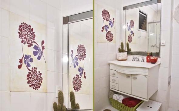 20 modelos de adesivos que podem ser usados na decoração do banheiro -> Decoracao De Banheiro Com Papel Contact