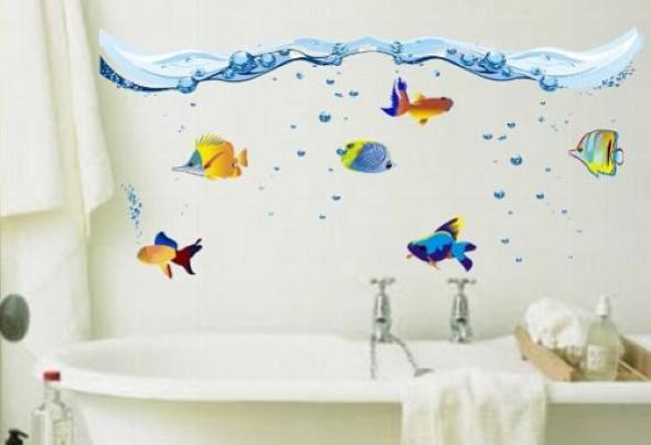 Adesivos na decoração de banheiro 010
