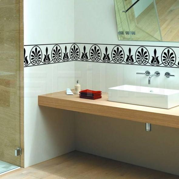 20 modelos de adesivos que podem ser usados na decoração do banheiro -> Decoracao Banheiro Atual