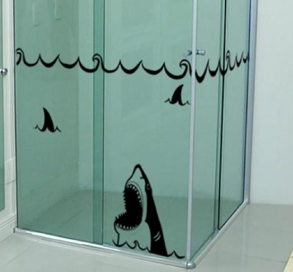 Adesivos na decoração de banheiro 012