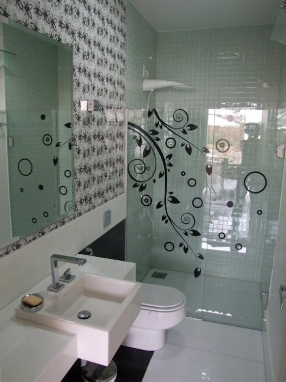 Adesivos na decoração de banheiro 014