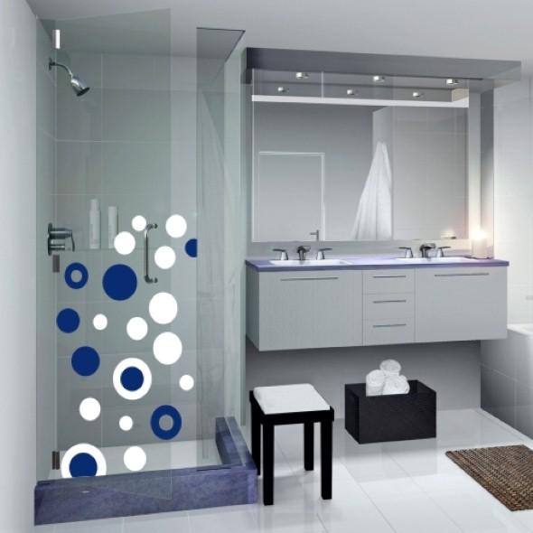 20 modelos de adesivos que podem ser usados na decoração do banheiro -> Decoracao Banheiro Adesivos