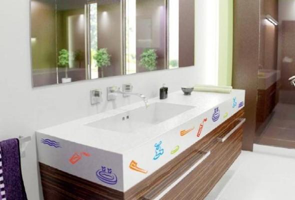 Adesivos na decoração de banheiro 016
