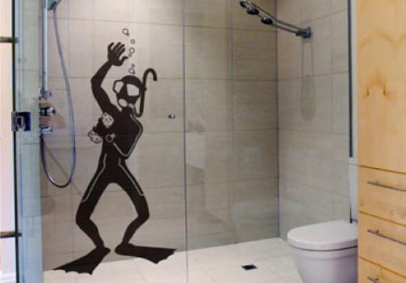 Adesivos na decoração de banheiro 017