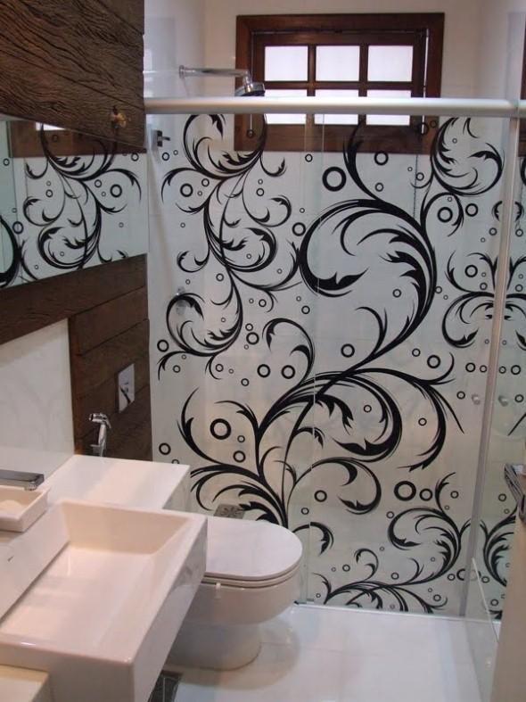 Adesivos na decoração de banheiro 018