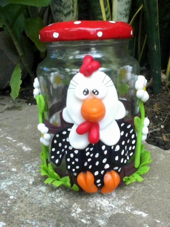 Artesanato de galinha para cozinha 001