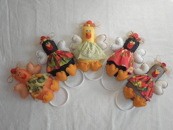 Artesanato de galinha para cozinha 002