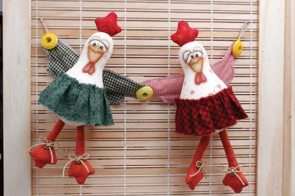 Artesanato de galinha para cozinha 003