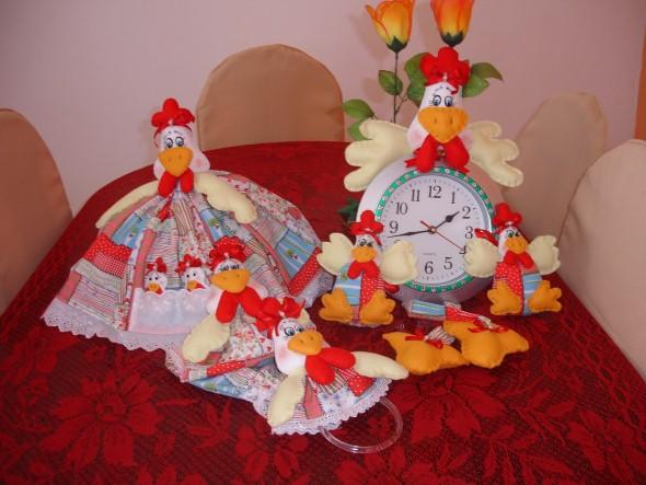Artesanato de galinha para cozinha 004