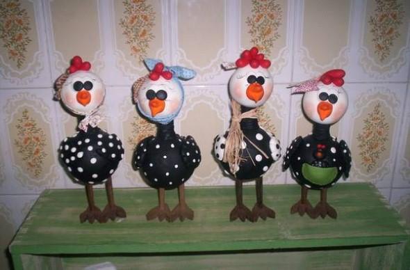 Artesanato de galinha para cozinha 007
