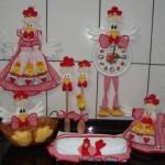 Artesanato de galinha para cozinha 008