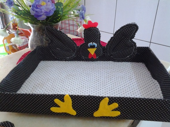 Artesanato de galinha para cozinha 011