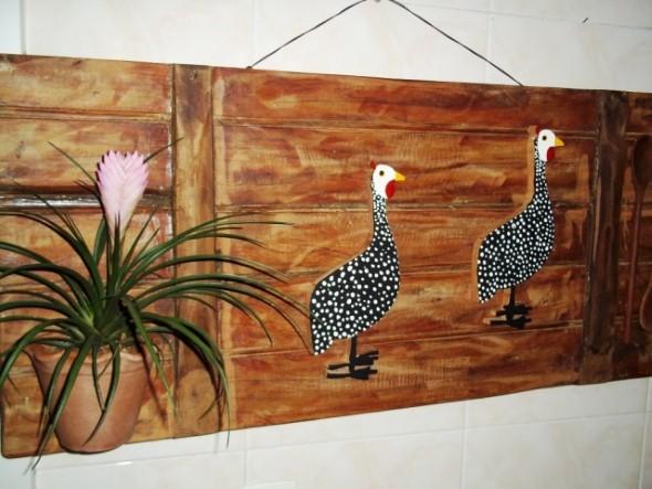 Artesanato de galinha para cozinha 014