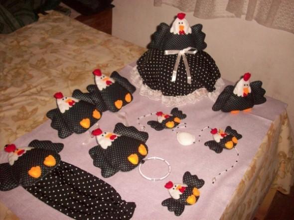 Artesanato de galinha para cozinha 015