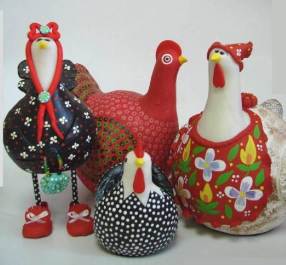 Artesanato de galinha para cozinha 016