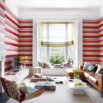 Decorar a sala usando parede colorida 001