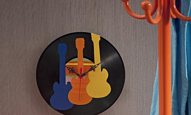 decoração com disco vinil