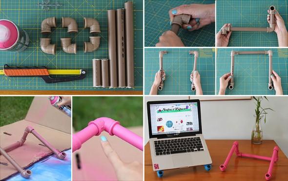 Como usar canos de PVC na decoração de ambientes 004