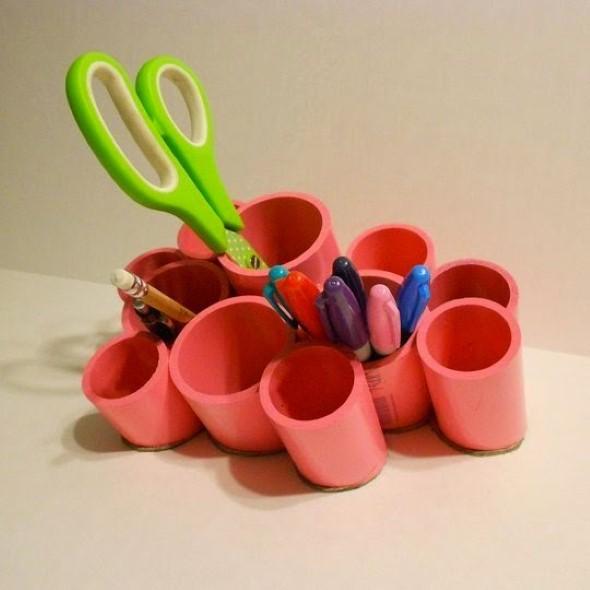Como usar canos de PVC na decoração de ambientes 013